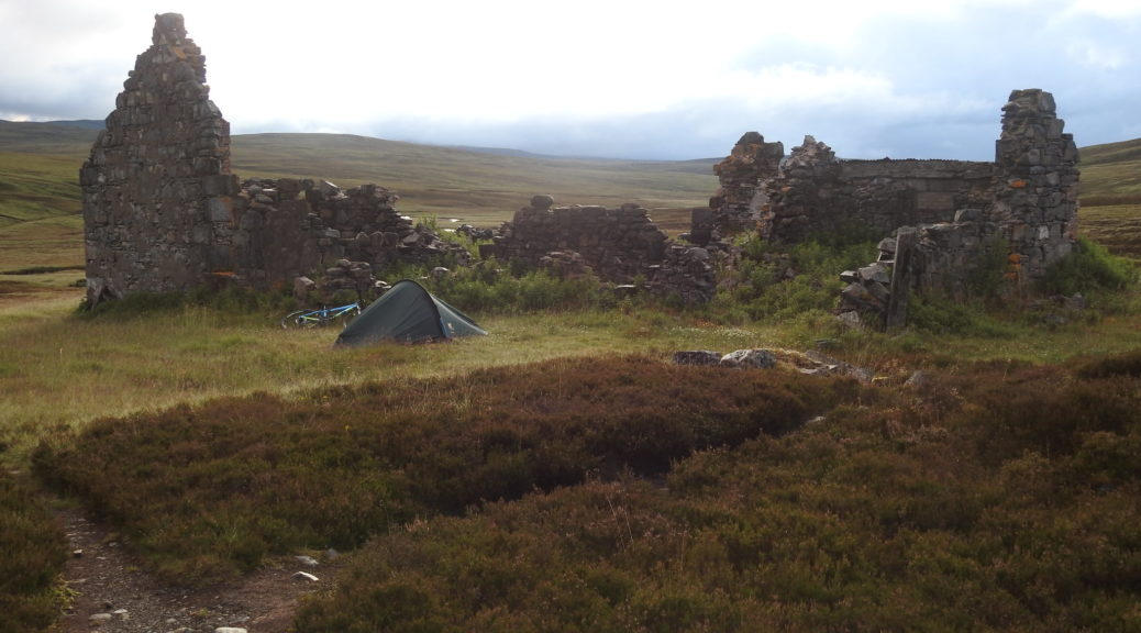 Bike and tent wild camping